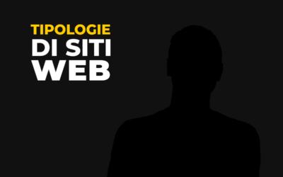 Quali tipologie di siti web esistono?